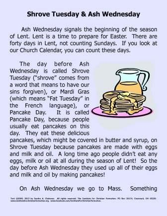Shrove Tuesday and Lent : Information - Photos - PowerPoint ...